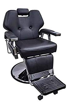 DevLon NorthWest Reclining Barber Chair Black Hydraulic Salon Deluxe Chair