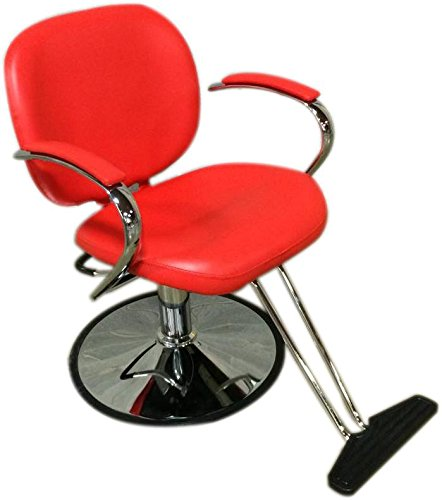 Sleek Modern Hydraulic Barber Chair Styling Salon Beauty - ds-sc7001-red