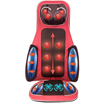 Real Relax Massage Cushion Seat Massage Back, Neck and Full Body for Home and Office (Red)