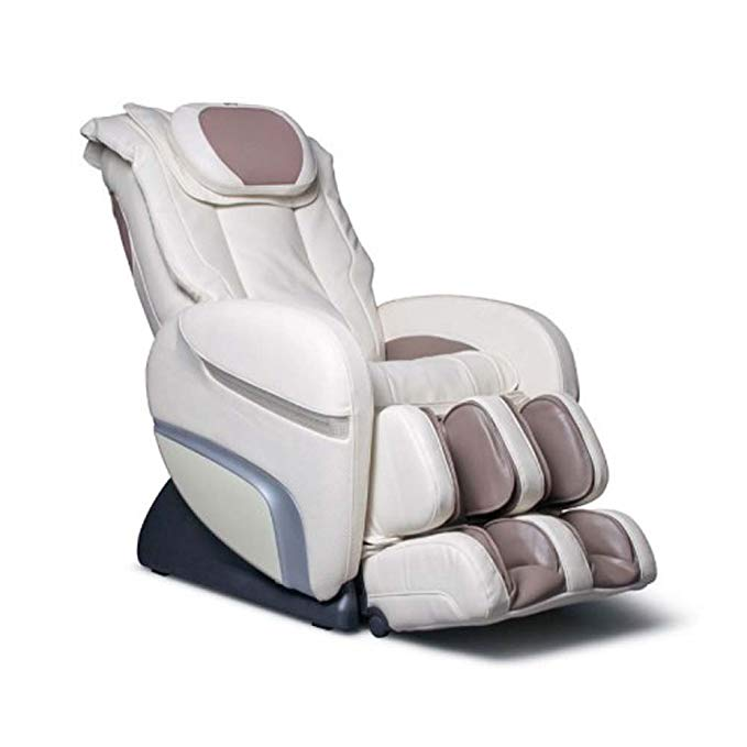 Osaki OS3000DCHIRO Model OS-3000 Chiro Massage Chair, Cream, Auto Recline, L-Track Roller System, Leg Adjustment, Timer, Chromotherapy Lighting, Air Massage Intensity