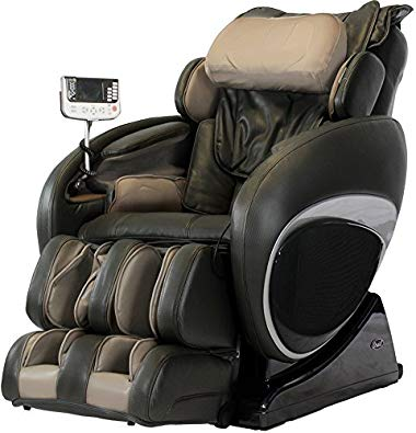 Osaki OS-4000T Full Body Massage Chair, Zero-Gravity Design Auto Recline and Leg Extension, Full Size Easy-to-Use Remote, Unique Foot Roller, 3 Level Massage Intensity, 3 Level Air Intensity, Brown