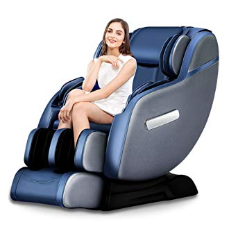 Robotic SL-Track Real Relax Massage Chair, Premium Zero Gravity Full Body Space-Saving Recliner with...