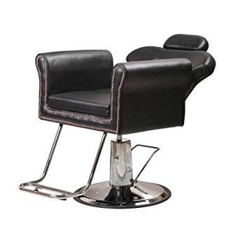 Danyelbeauty Deluxe Hydraulic Barber Chair Beauty Shop Reclining, Salon Equipment