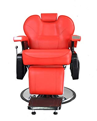 BarberPub Hydraulic Recline Salon Beauty Spa Styling Barber Chair S8702Red